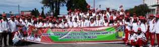 Bupati dan Wakil Bupati Karo Lepas 10 Atlet Karo Ikuti Porprovsu 2019