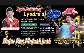 Indonesia Idol 2020, Anggota DPRD Karo Ini Ajak Masyarakat Dukung Lyodra Br Ginting