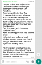 Pengusaha Kedai Kopi Ini Sebut Saat Deklarasi Syamsuar - H.Edy Nasution dan Menang, Minum Gratis