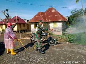 Serentak Tiga Hari: Kodim 0205/TK Gelar Penyemprotan Disinfektan Cegah Covid 19, Ini Lokasinya...