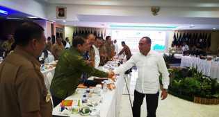 Bupati Karo Hadiri Rakor Pemerintah Daerah dan Pembangunan Sumut