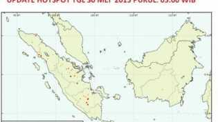 BMKG Pekanbaru Sebut 15 Titik Panas Terdeteksi di Wilayah Sumatera