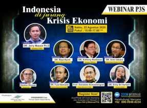 Bedah Krisis Ekonomi, Besok Sore P3S Gelar Webinar