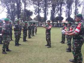 Perintah Panglima: Saat Apel Pagi Dandim 0205/TK Kembali Tegaskan TNI Netral di Pemilu