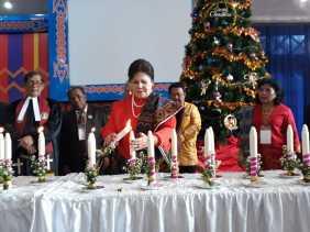 Wakil Bupati Karo Hadiri Perayaan Natal Saitun (Lansia) GBKP Tahun 2018