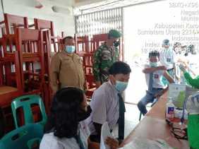 Monitor Serbuan Vaksin Pelajar, Dandim 0205/TK Ajak Peran Aktif Toga,Tomas, Toda Dan Media