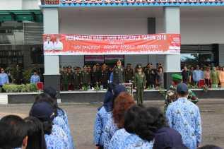 Upacara Hari Lahir Pancasila di Karo, Ini yang Disampaikan Wadanyon 125/SMB