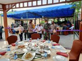 Kapolres AKBP Yustinus Setyo SH SIK Resmikan Aula Wira Satya Nagara Polsek Simpang Empat