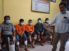 Polres Karo Ringkus Lima Pelaku  Pencurian di Rumah Junus Ginting