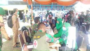 Kodim 0205/TK Gelar Vaksinasi Ribuan Masyarakat Kabupaten Karo