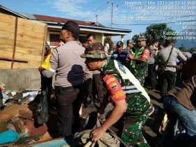 2 Warga Luka dan 20 Rumah Rusak di Desa Suka Rame Diterjang Puting Beliung