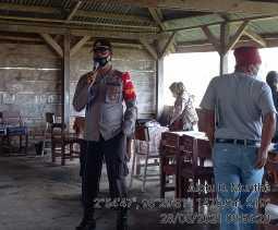 Polsek Tigapanah Rutin Pantau Vaksinasi Covid-19 di Kecamatan Merek