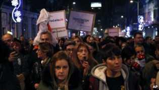 Terkait Kebebasan Demokrasi, Ribuan Orang Memprotes Kebijakan Presiden di Beograd