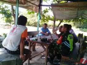 Jalin Silahturahmi, Babinsa Komsos Bersama Tokoh Masyarakat Desa Gunung