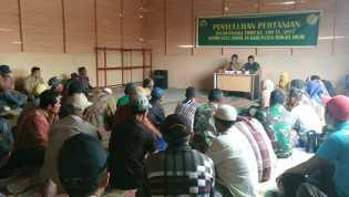 Kegiatan Hari ke 13 TNI- MMD di Rohil,  Penyuluhan Ketahanan Pangan ke Masyarakat
