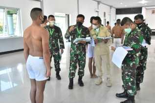Sidang Parade Calon Bintara PK TNI AD 2021 Lamgsung Dipimpin Danrem 023/KS