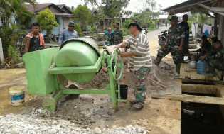Kegiatan Hari ke 25 TNI-MMD bersama Masyarakat, di Sasaran 11 Terus Digesa