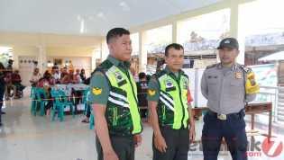 Pengamanan TPS di Desa Tongging, Babinsa: Berjalan Aman dan Kondusif