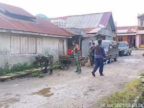 Giatkan Kembali Budaya Gotong Royong Koramil 04/SE Intensifkan Peran Babinsa
