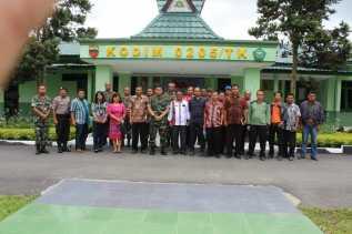 TNI/POLRI di Karo Bekerja Sama Dengan Pemkab Bentuk Penangulangan Bencana