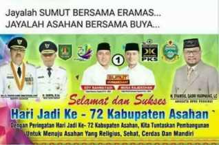 Didalam Iklan HUT ke 72 Asahan Ada Paslon Gubsu Nomor 1, Jadi Viral di Facebook