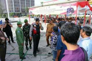 Kabaharkam Polri Saksikan Simulasi Pengamanan Pemilu 2019 di Riau