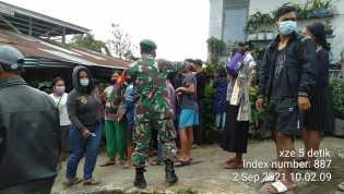 Babinsa Pantau Kegiatan Vaksinasi di Desa Dokan Wilayah Koramil 02/TP