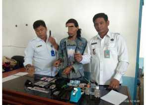 Seorang Pria Ditangkap BNNK Karo di Desa Sadaperarih Terkait Narkotika Jenis Shabu