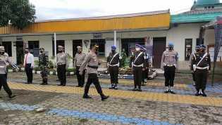 Polres Tanah Karo Gelar Apel Pasukan Ops Patuh Toba Bersama Forkopimda