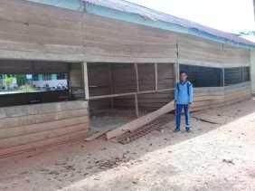 Kepsek SMPN 1 Tapung Hulu: 2  Unit Gedung Sekolah Tidak Layak Pakai