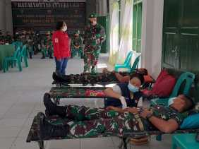 Danyon 125 Si'mbisa Sumbangkan Darah Sebanyak 35 Kantong Pada Hut Kodam I/BB