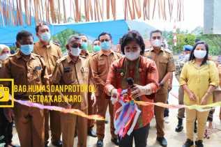 Bupati Karo Resmikan SMP N 2 Laubaleng Di Dampingi Kadis Kesehatan
