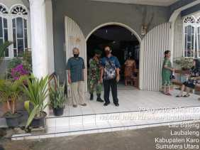 Babinsa Koramil 09/LB Bersama Satgas Covid-19 Pantau Prokes di Gereja