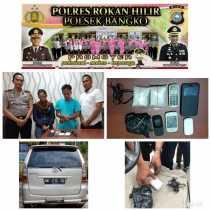 Polsek Bangko Ciduk Dua Orang, Didalam Mobil BM1715 RL Ditemukan Narkotika Jenis Sabu