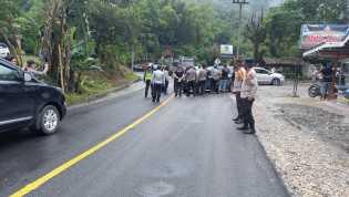 Antisipasi Pengunjung : Polres Tanah Karo Tingkatkan Pemeriksaan Di Pos Pam