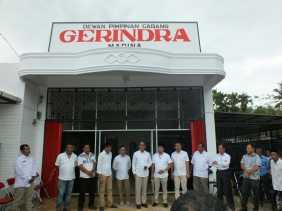 Ketua DPD Gerindra Sumut Meresmikan Kantor Sekretariat DPC Gerindra Madina