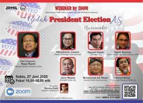 Diskusi Webinar P3S dan Pewarna Indonesia: Pilpres AS 2020 Menurut Para Pakar Politik Internasional