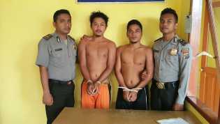 Berawal Minum Tuak dan Rokok, Awal dan Rizal Ditangkap Polsek Panipahan Kasus Pengeroyokan
