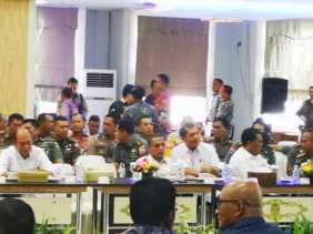 Rakor Jelang Pemilu 2019, Ini yang Disampaikan Bupati Karo, Kapolres dan Kodim 0205/TK