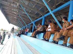 Bupati Karo Pimpin Apel Pasukan Menegakkan Disiplin Protokol Kesehatan Covid 19