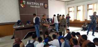 Satpol PP Pekanbaru: 63 Anak Sekolah Terjaring Razia Warnet