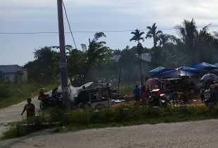 Camat Payung Sekaki Larang Pasar Kaget Beroperasi Tanpa Izin