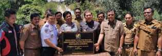 Bupati Karo Resmikan Jembatan Napak Tilas Pahlawan Nasional Kiras Bangun