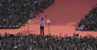 Rapat Umum di GBK, Jokowi: Jangan Sampai Kita Merasa Lemah Karena Ini Bangsa Besar!