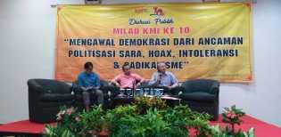 Diskusi Publik Milad KMI, Pengamat IPI: Pancasila Sudah Final Jangan Diobok-Obok Lagi