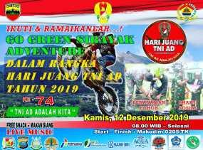 Hari Juang TNI - AD ke 74, Kodim 0205/TK Gelar Penghijauan di Gunung Sibayak dan Adventure