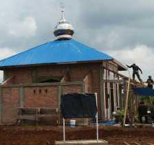TNI-MMD ke 100 Pembangunan Mushalla At-Tin di Sasaran 3 Tahap Rampung