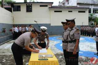 Kapolres Padangsidimpuan Sertijab Enam Perwira Menengah