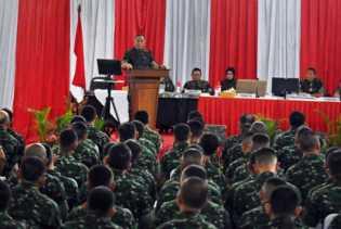 Dihadapan Prajutit, Menhan RI Minta TNI Waspadai Provokator Saat Pilpres