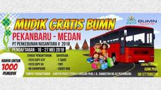 Syaratnya KTP dan KK, Puluhan Bus Untuk Mudik Gratis Disediakan PT.PN V Tujuan  Medan